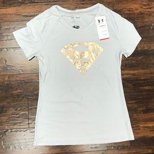 NWT Under Armour Shimmer Superwoman Shirt